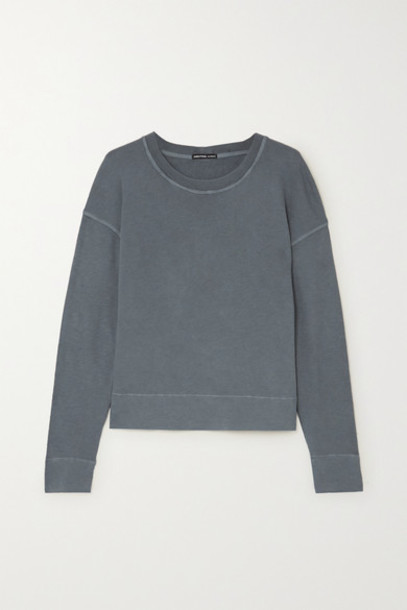 James Perse - Supima Cotton-terry Top - Gray