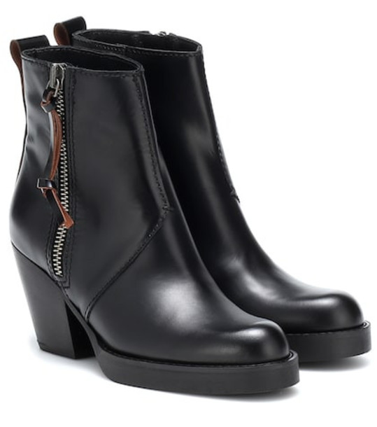 Acne Studios Leather boots in black