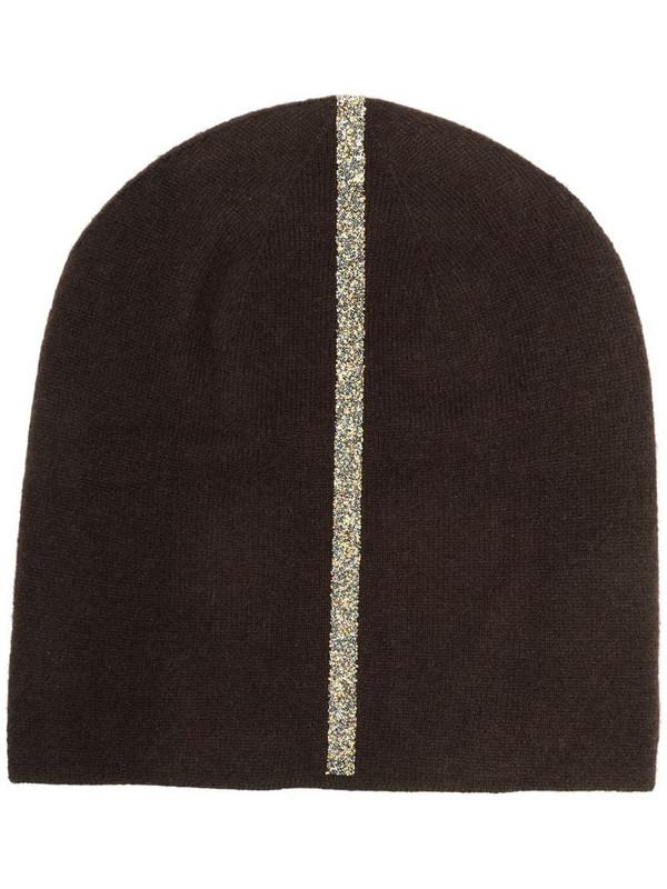 Warm-Me Damian Stripe beanie hat in brown