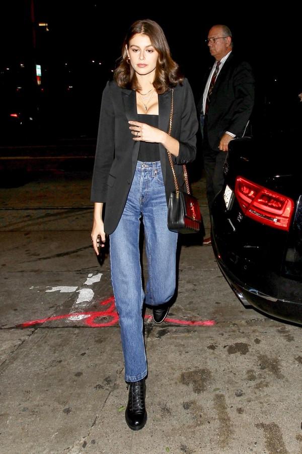 bag kaia gerber jeans purse denim black blazer