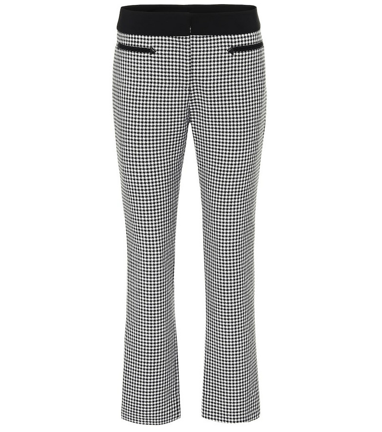 Paco Rabanne Checked wool straight pants in black