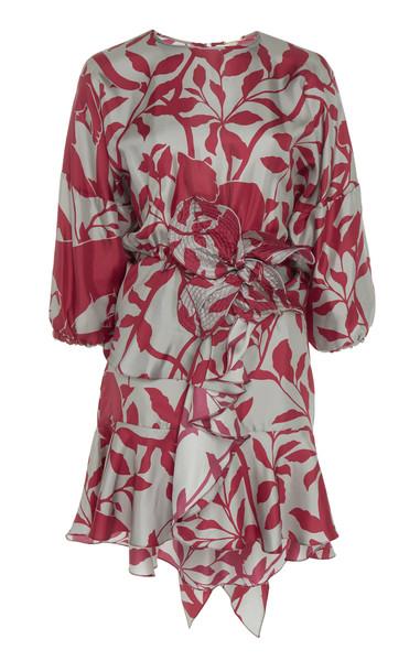 Johanna Ortiz Lady Marmalade Printed Silk Mini Dress Size: 2 in pink