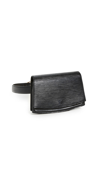 What Goes Around Comes Around Louis Vuitton Belt Bag in black