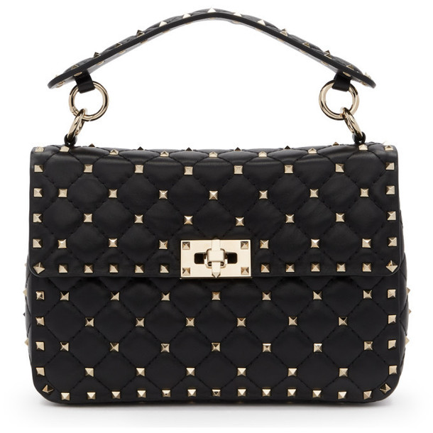 Valentino Black Valentino Garavani Medium Rockstud Spike Bag