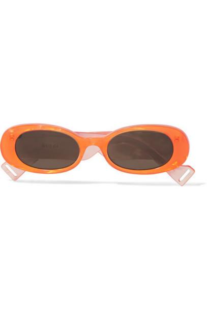 Gucci - Oval-frame Acetate Sunglasses - Orange