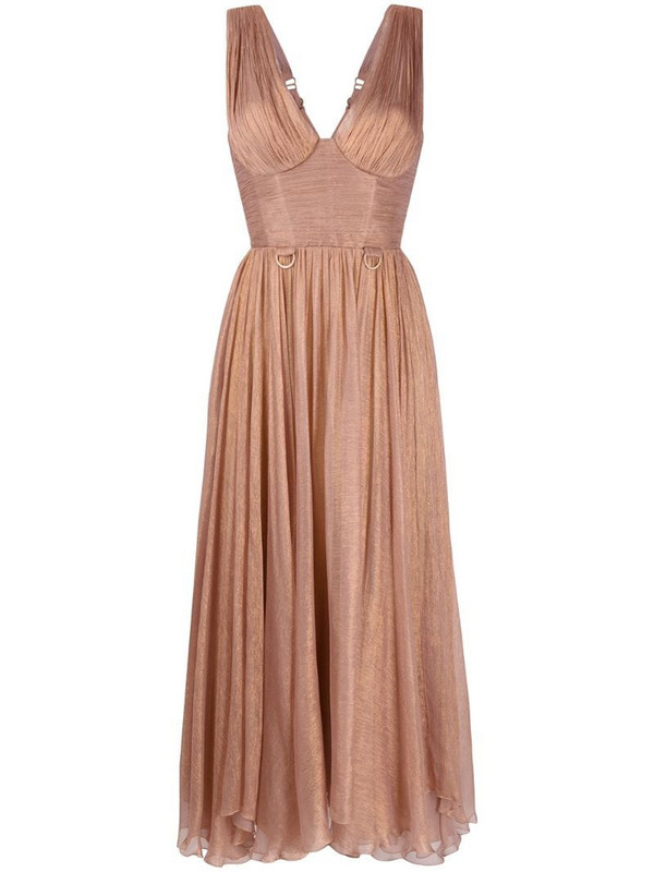 Maria Lucia Hohan corseted peasant dress in pink