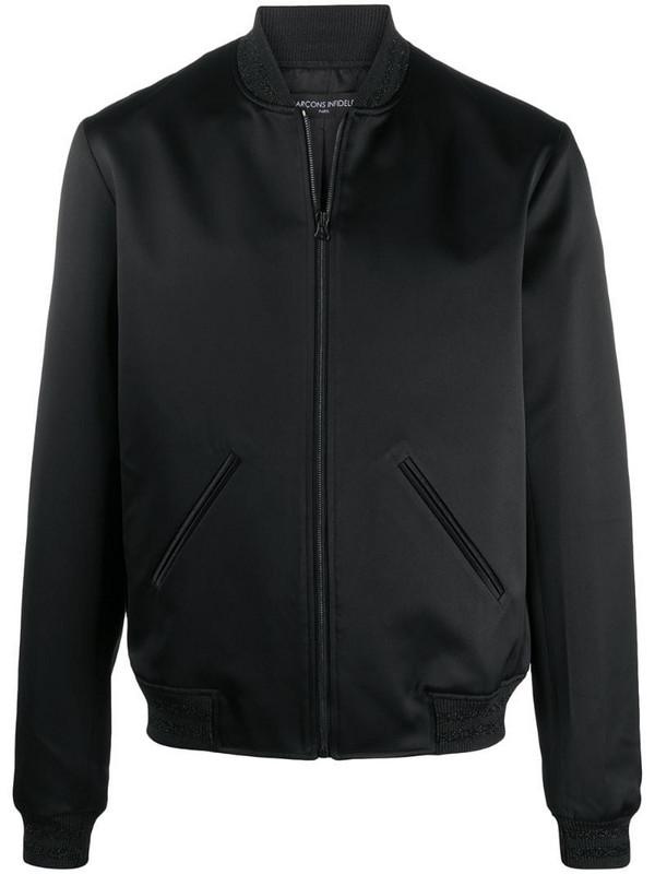 Garçons Infidèles embellished logo bomber jacket in black