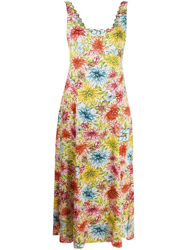 Alexa Chung floral midi dress in pink