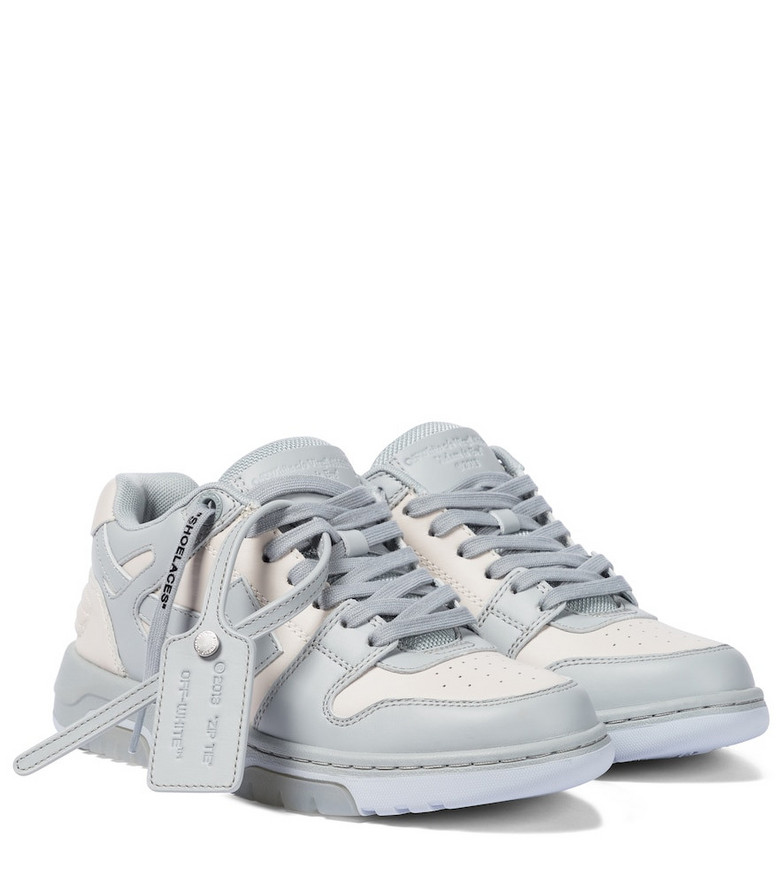 Off-White Out Of Office leather sneakers in blue