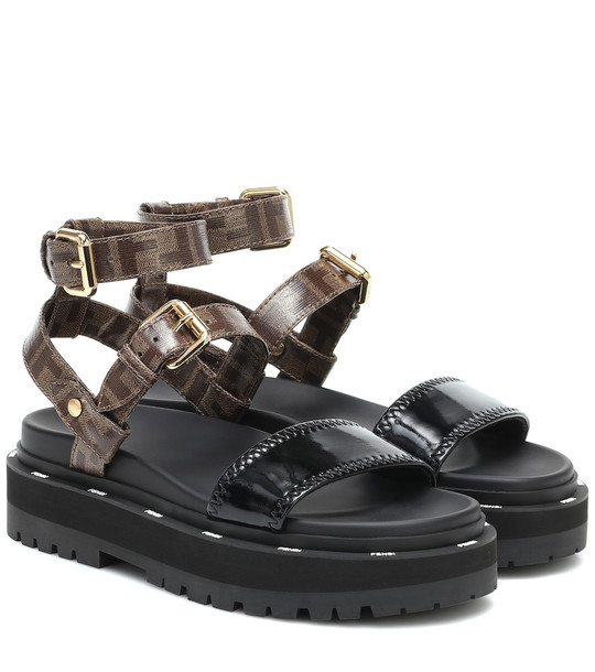 Fendi Neoprene and canvas sandals in brown
