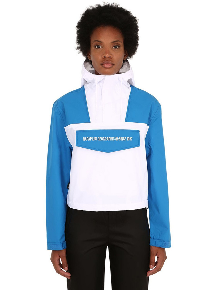 NAPAPIJRI Rainforest Cropped Techno Jacket in white
