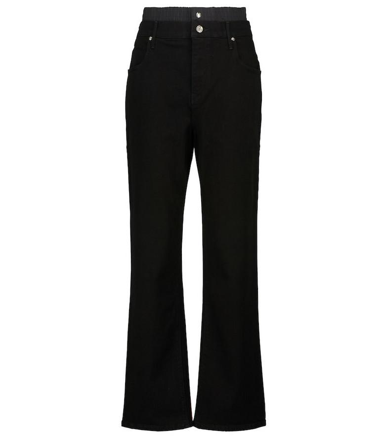 RtA Kallan high-rise straight jeans in black
