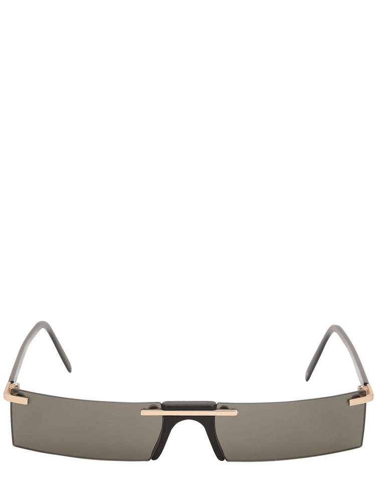 ANDY WOLF Wentworth Rectangular Sunglasses in black