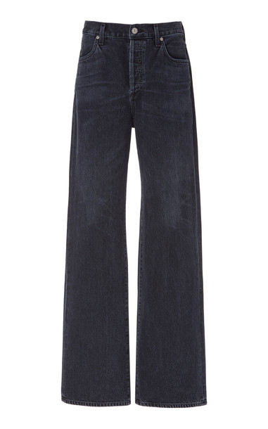 Citizens of Humanity Annina High-Rise Straight-Leg Jeans in black