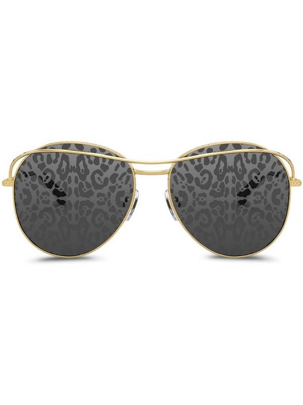 Dolce & Gabbana Eyewear leopard print lens sunglasses in grey