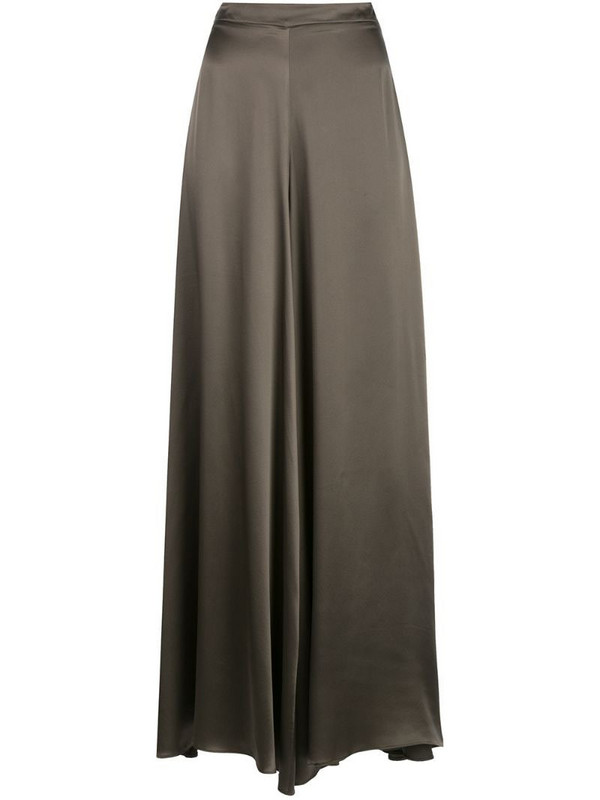 VOZ Charmeuse palazzo trousers in brown