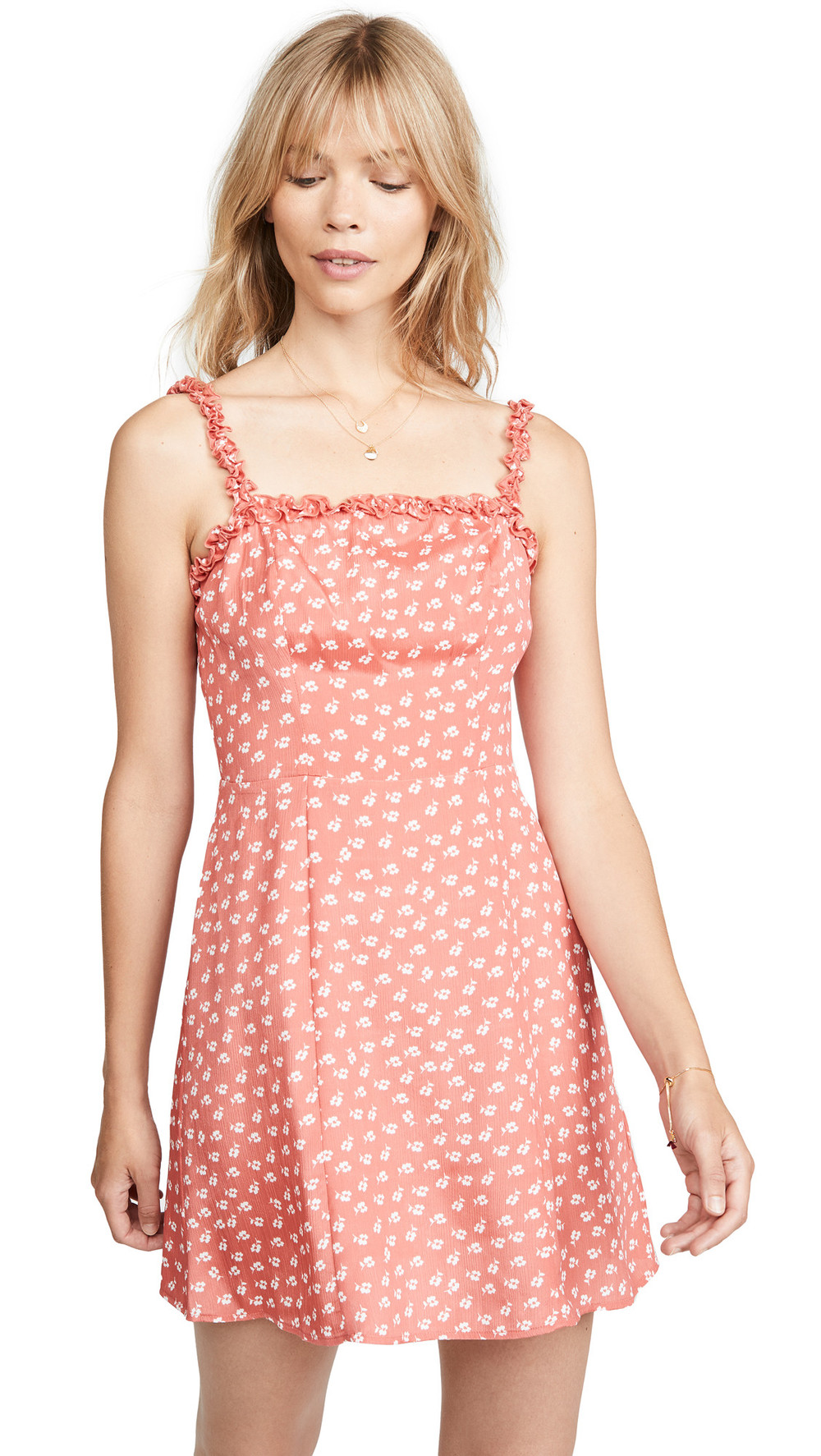 The Fifth Label Kaleidoscope Dress in ivory / coral