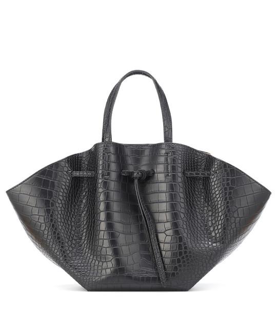 Nanushka Lynne croc-effect tote in black