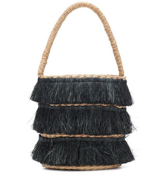 Kayu Mini Lolita straw tote in black