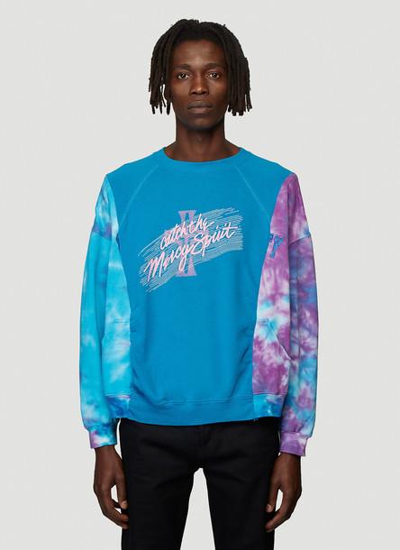 Bonum Upcycled Crewneck Sweatshirt in Blue size One Size