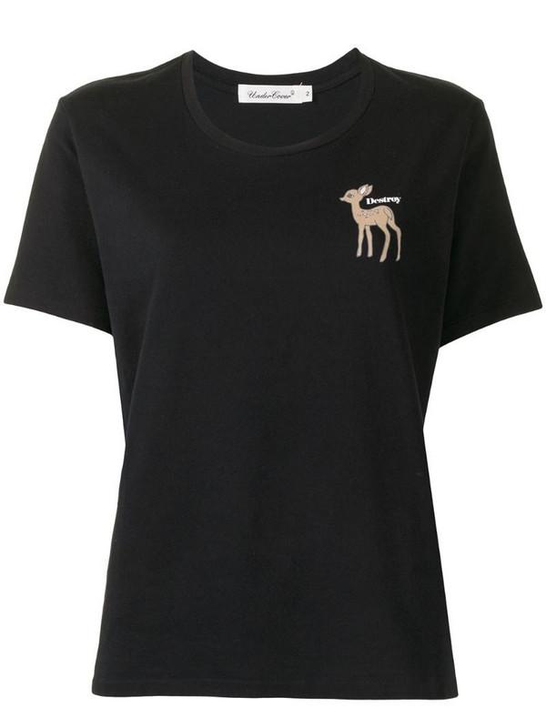 Undercover deer-print cotton t-shirt in black