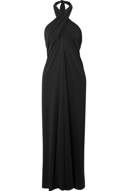 Eres - Caro Convertible Stretch-jersey Halterneck Midi Dress - Black