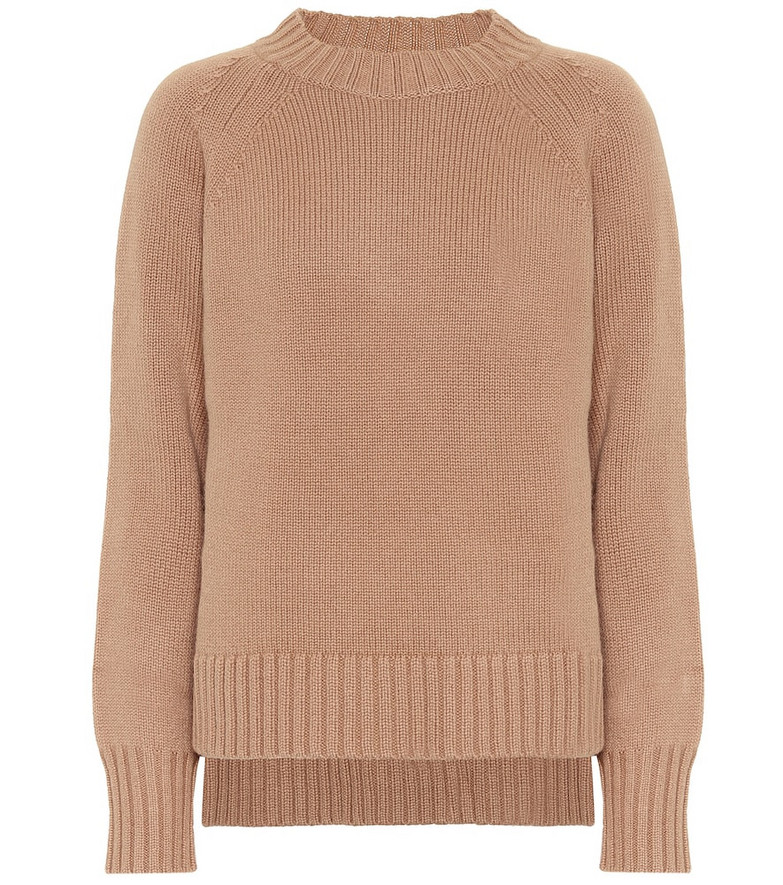 S Max Mara Modena wool and cashmere sweater in beige