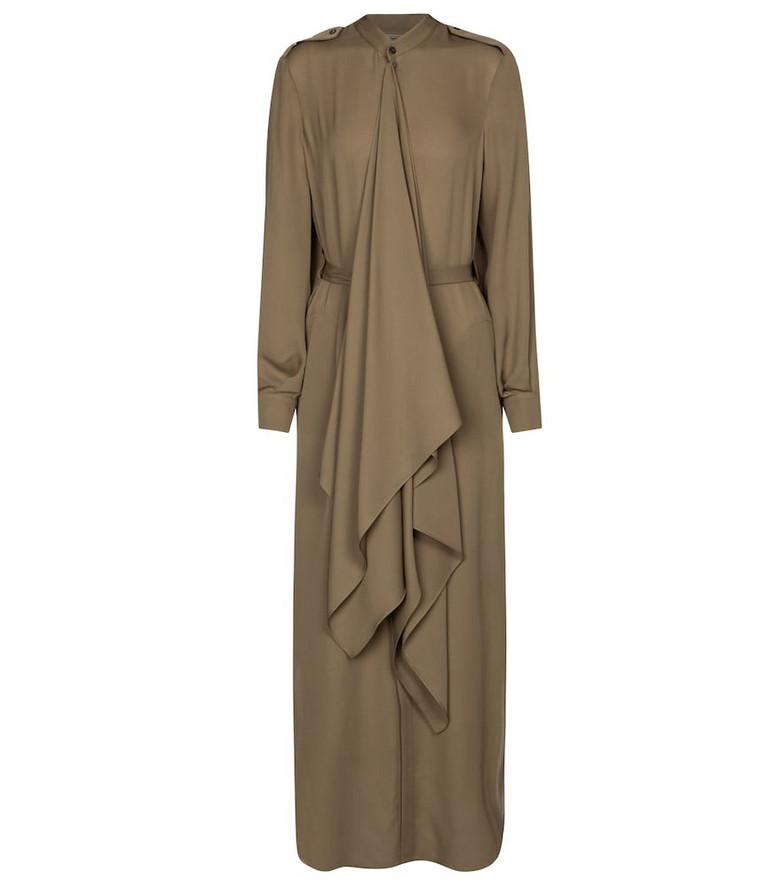 Roland Mouret Northcott silk midi dress in green