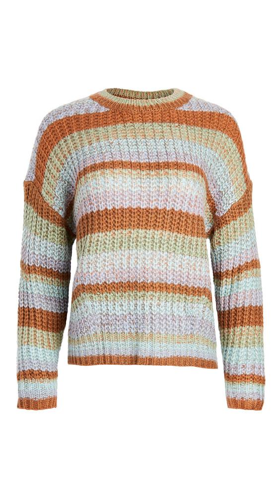MINKPINK Carol Stripe Knit Sweater in multi