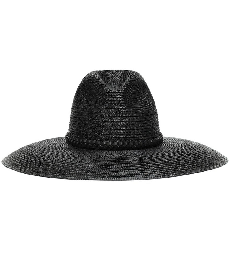 Saint Laurent Grand straw hat in black