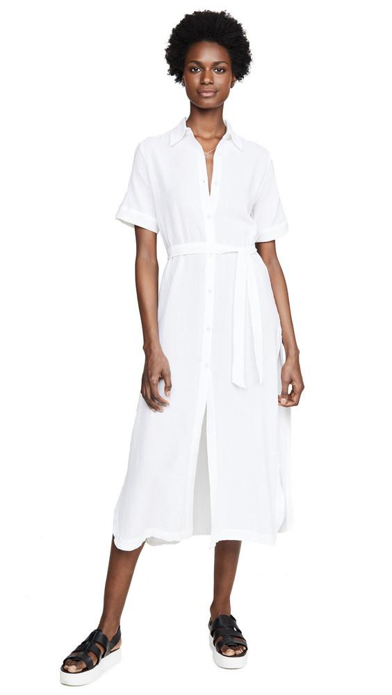 DL DL1961 Fire Island Dress in white