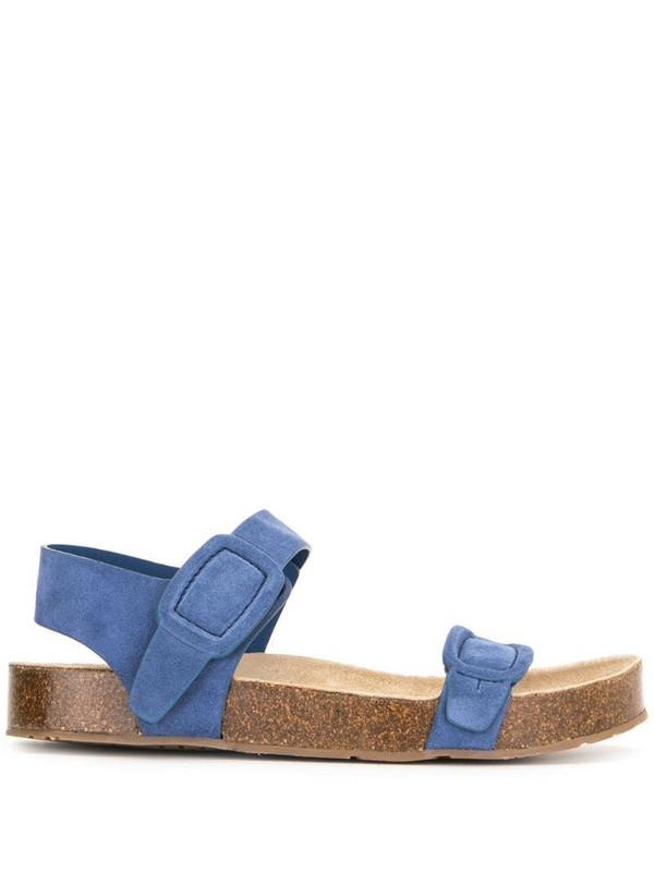 Pedro Garcia buckle detail sandals in blue