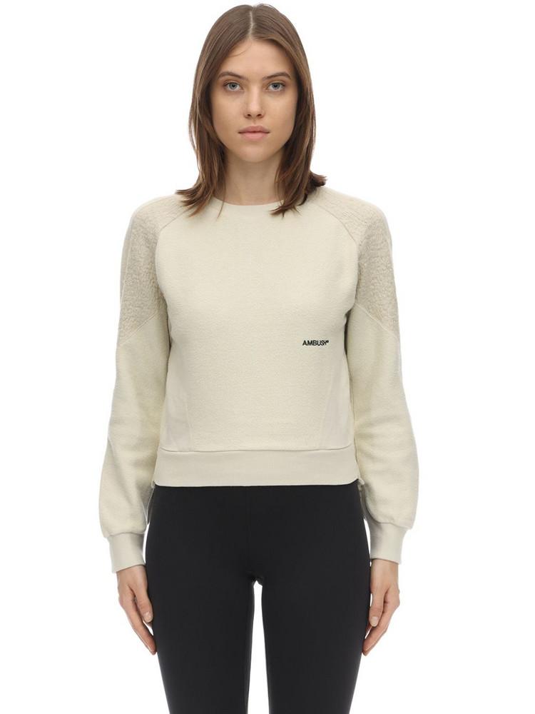 AMBUSH Logo Cotton Sweatshirt in white