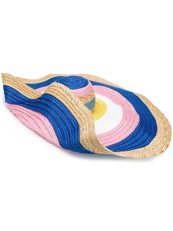 Missoni Mare colour-block woven hat in white