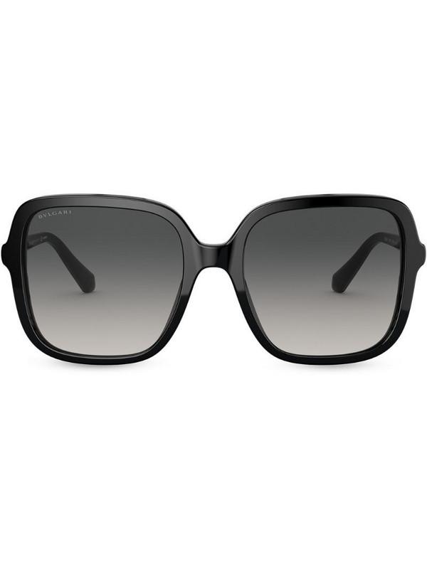 Bvlgari oversize square frame sunglasses in black