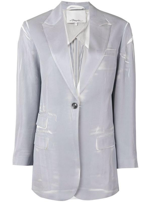3.1 Phillip Lim peaked lapels single-breasted blazer in grey