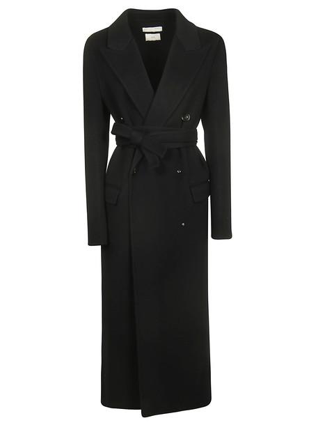 Bottega Veneta Double Breasted Coat in nero
