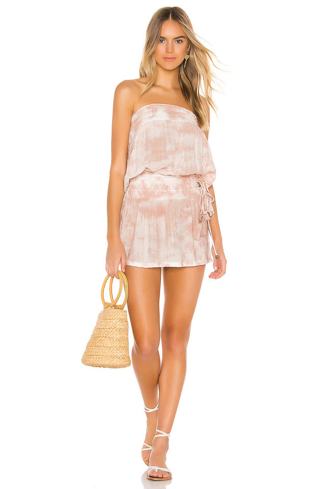 Tiare Hawaii Aina Strapless Dress in pink