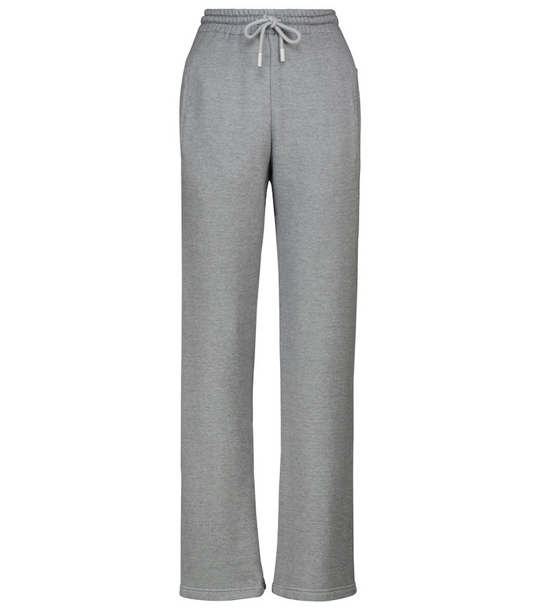 Off-White Printed cotton-blend sweatpants in grey