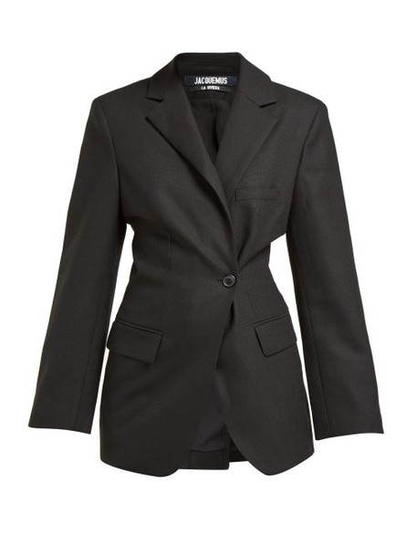 Jacquemus - Slim Fit Wool Blazer - Womens - Black