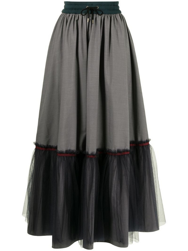 Kolor tiered tulle skirt in grey