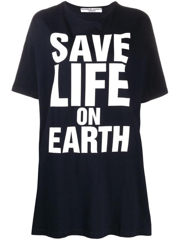 Katharine Hamnett London large script oversized T-shirt in blue