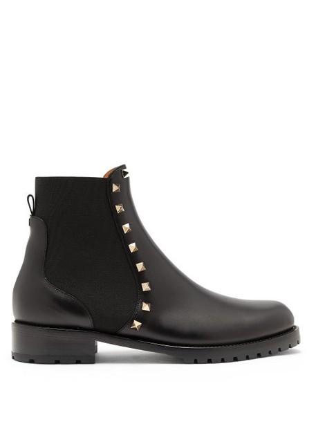 Valentino - Rockstud Beatle Leather Chelsea Boots - Womens - Black