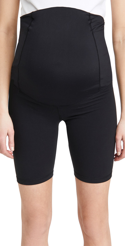 Ingrid & Isabel Active Bike Shorts with Crossover Panel in black