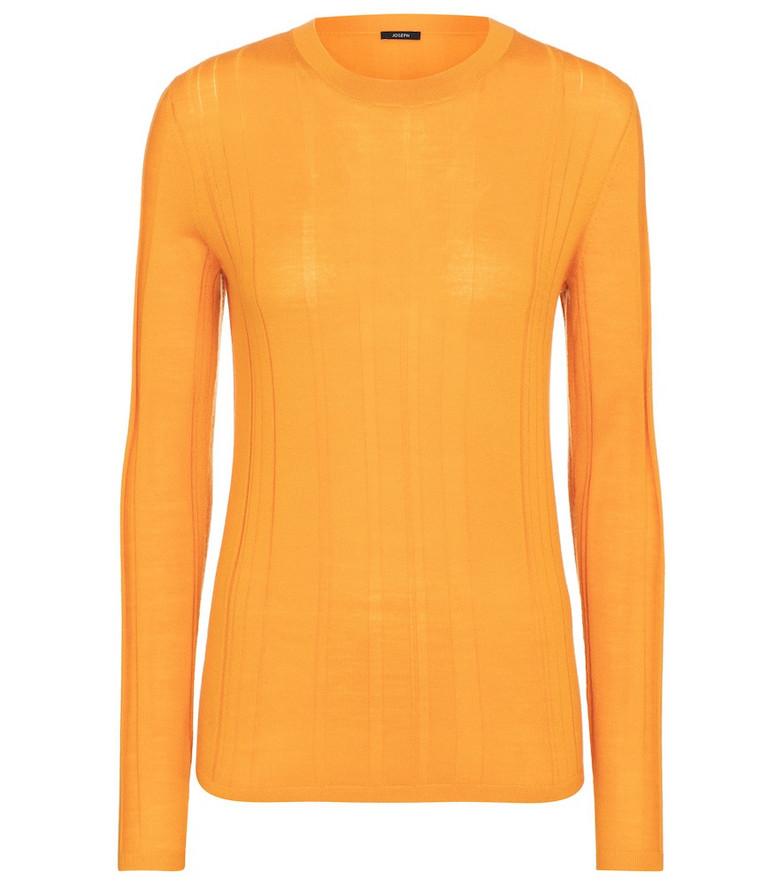 Joseph Merino wool-blend sweater in orange