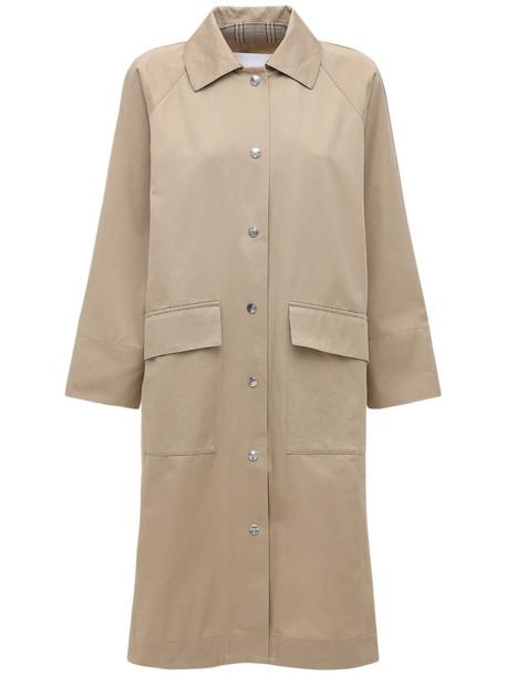 REMAIN Patula Cotton Gabardine Trench Coat in beige