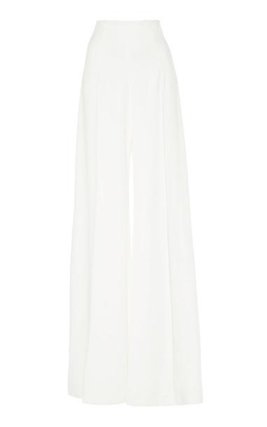 Costarellos Crepe Wide-Leg Pants Size: 42 in white