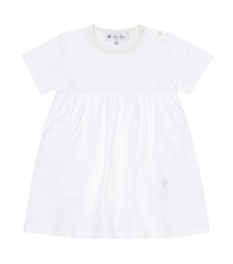 Loro Piana Kids Baby stretch-cotton dress in white