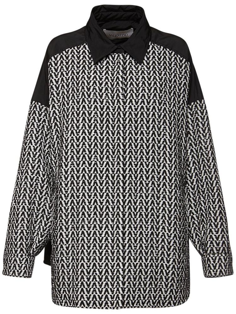 VALENTINO Cotton Boucle Jacket in black / white