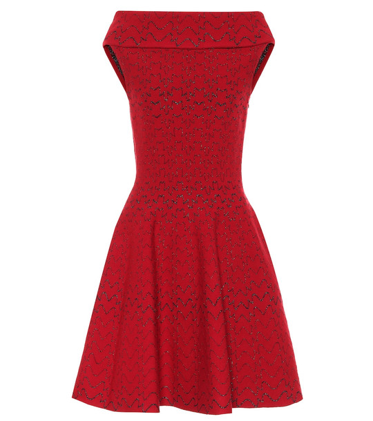 Alaïa Jacquard knit dress in red